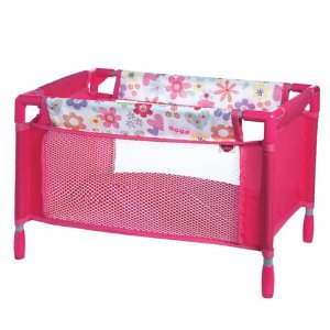 Image of Adora Doll Accessories Playpen Bed Multi-Colored