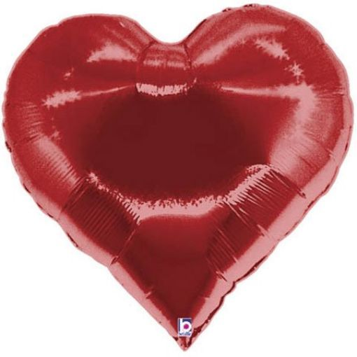 "XL 30"" Casino Heart Super Shape Mylar Foil Balloon Party Decoration"