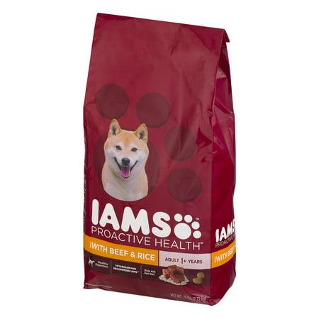 Iams Proactive Health Adult Dog Food Beef   Rice  6 0 Lb