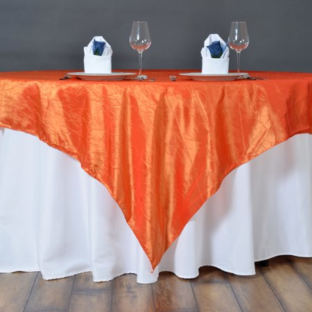 """BalsaCircle 72"""" x 72"""" Taffeta Crinkle Overlays - Wedding Party Reception Catering Linens Dinner Banquet Event Decorations"""