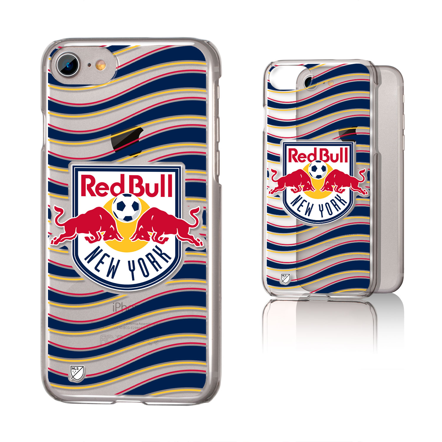 New York Red Bulls RED BULLS Wave Clear Case for iPhone 8 / 7 / 6