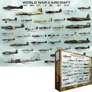 WWII Aircraft Chart Jigsaw Puzzle, 1000 Pieces
