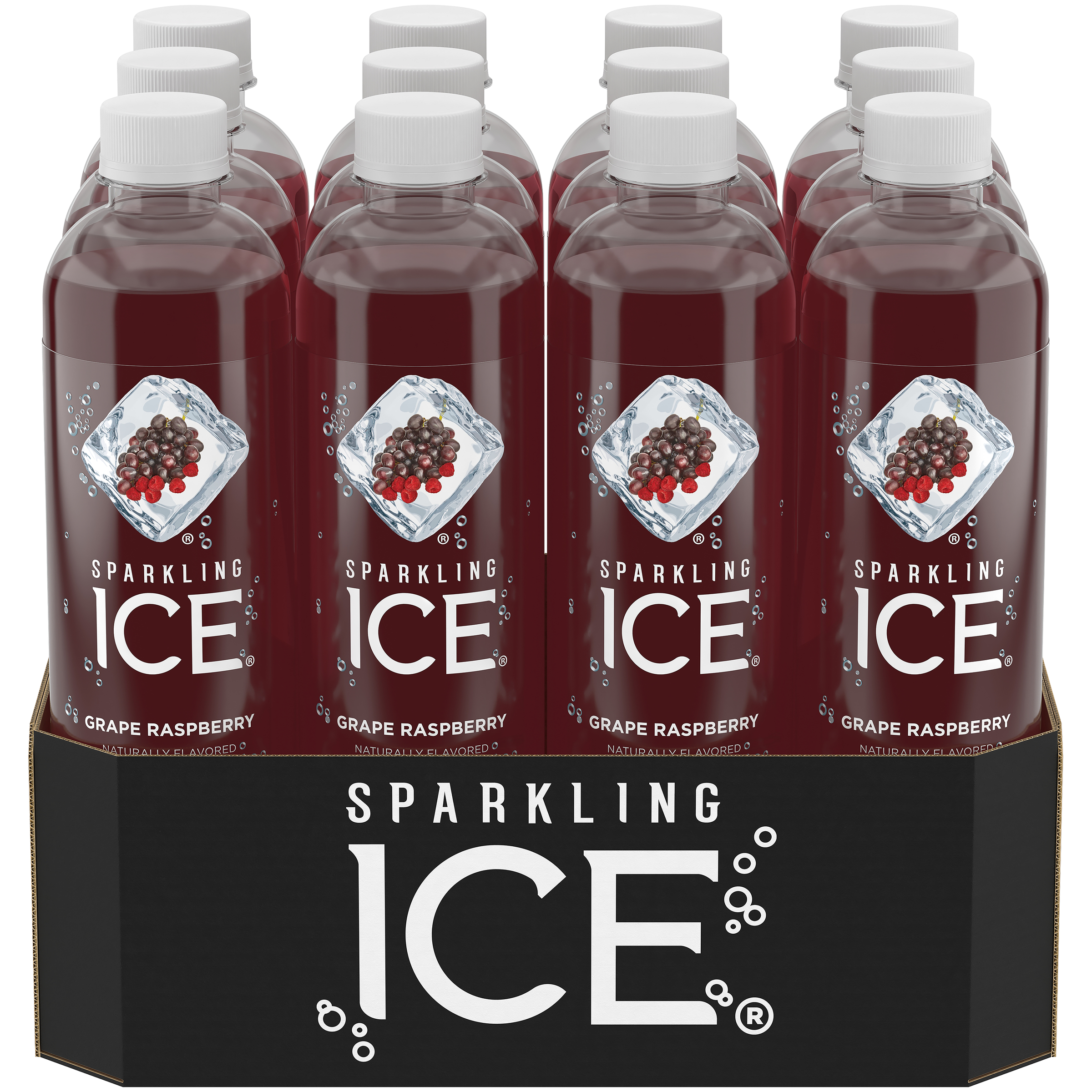 Sparkling Ice Naturally Flavored Sparkling Water Grape
