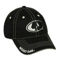 Mossy Oak Cap, Black, Adjustable Closure