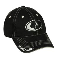 Mossy Oak Cap, Black, Adjustable Closure
