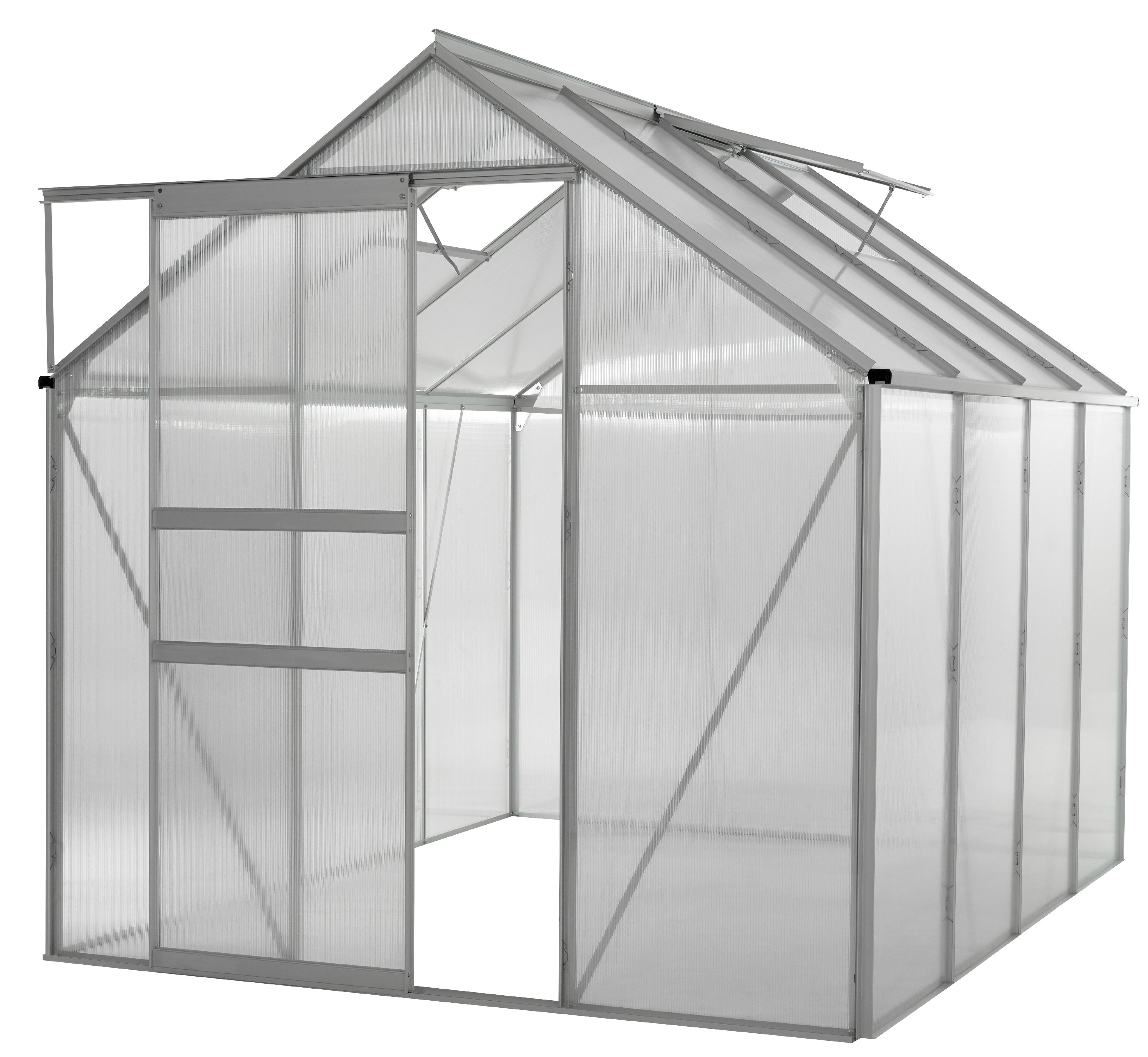Ogrow WALK-IN 6' X 8' Lawn and Garden Greenhouse with Heavy Duty Aluminum Frame by KSH Brands