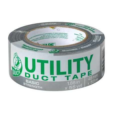 Utility Duck Tape Brand Duct Tape, Silver, 1.88 in. x 55 yd. - Coloured Duct Tape Canada
