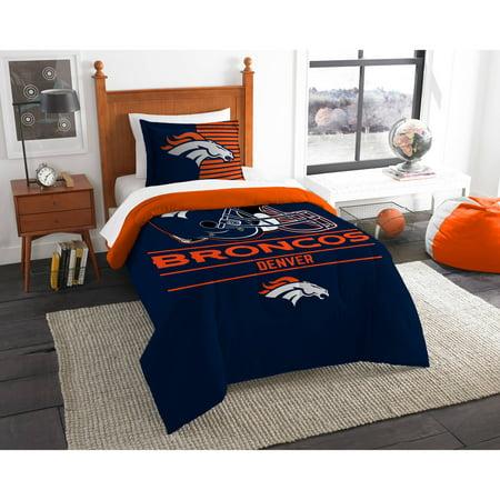 """NFL Denver Broncos """"Draft"""" Bedding Comforter Set"""