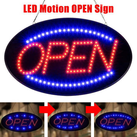 Cleveland Indians Neon Sign - TSV Ultra Bright LED Neon Light Animated Motion OPEN Business Sign with ON/OFF Switch