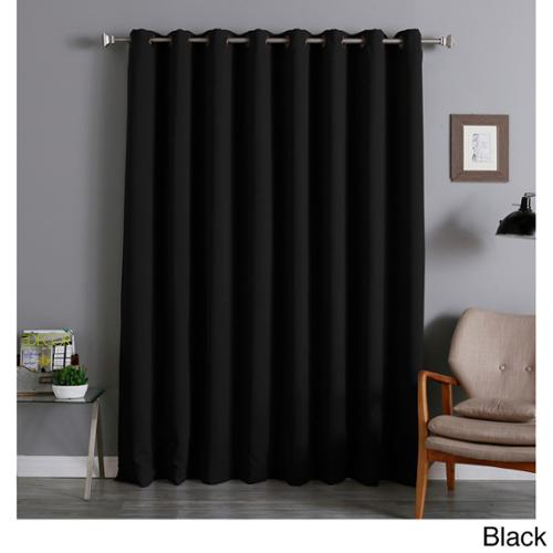 Aurora Home Extra Wide Thermal 96-inch Blackout Curtain Panel Black