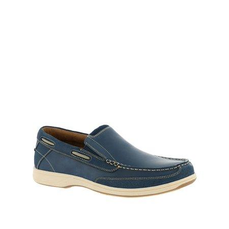 Florsheim Men's Lakeside Slip-On Boat Shoe, Indigo Smooth/Suede, Size