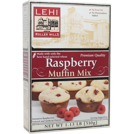 Lehi Roller Mills Raspberry Muffin Mix (Pack of 14)