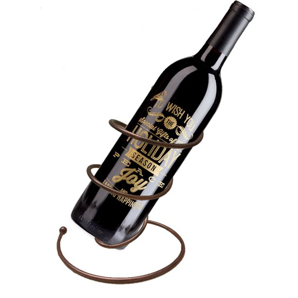 Hut Wine Bottle Holder Spiral Design