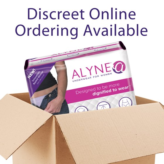 4dd08a468088 Alyne Briefs, Thin Disposable Adult Incontinence Underwear for Women,  Maximum Absorbency, Medium/Large - Walmart.com