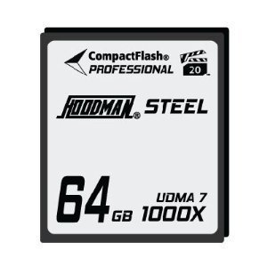 Hoodman RAW Steel Class 7 64GB CompactFlash Card, 1000x H...