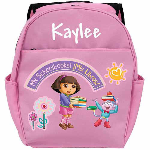 Personalized Dora the Explorer My Schoolbooks Toddlers' Pink Backpack