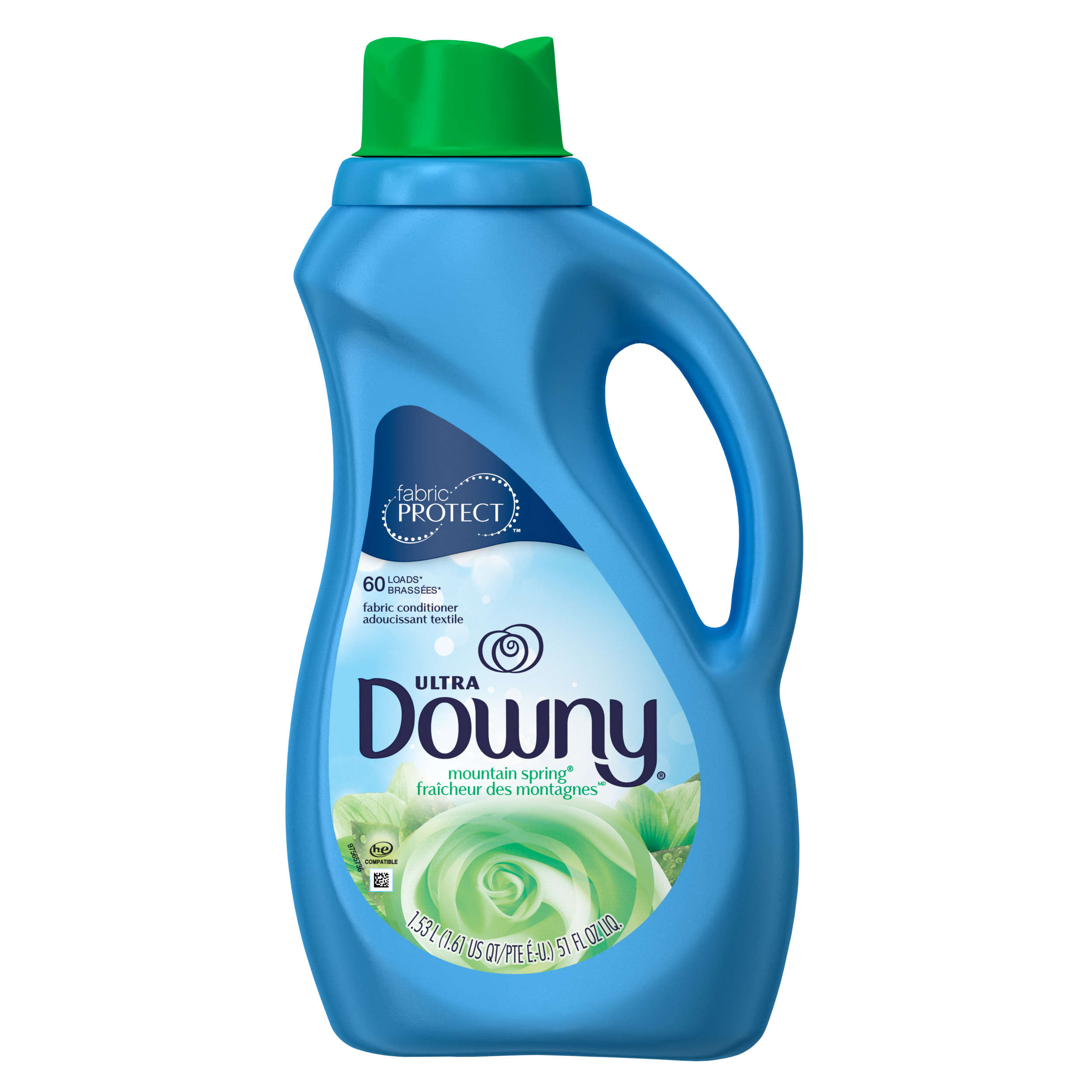 Ultra Downy Mountain Spring Liquid Fabric Conditioner (Fabric Softener), 51 FL OZ