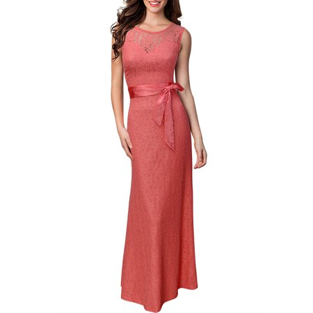 Women Long Maxi Formal Deep V Backless Dress Wedding Bridesmaid