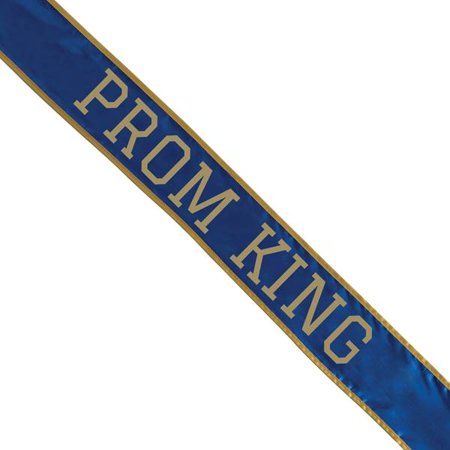 BLUE & GOLD SCHOOL COLOR PROM KING SASH
