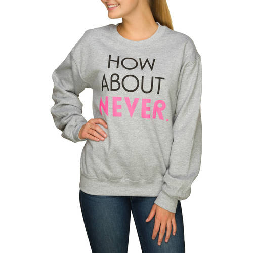 Juniors' Sarcastic Graphic Crewneck Pullover Sweater