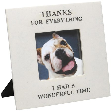 House Parts Memorial Photo Frame, Thanks For Everything I Had a Wonderful Time - Picture Frame For Lost Pet or Loved One Pet Photo Picture Frame