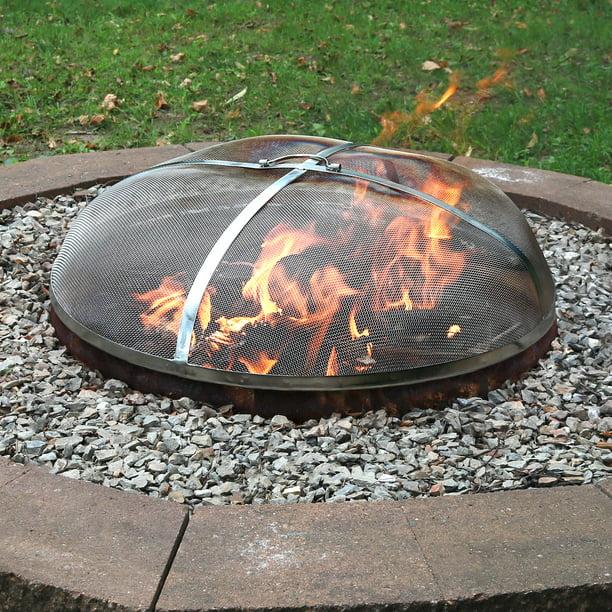 Sunnydaze Spark Screen 40 Stainless Steel Rust Resistant Fire Pit Accessory Walmart Com Walmart Com
