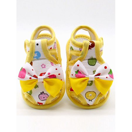 8cebc77ef0a9c Babula - Babula Baby Toddler Girl Soft Cotton Sandals Cartoon Print Crib  Shoes 0-18M - Walmart.com