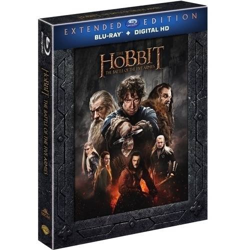The Hobbit: Battle Of The Five Armies (Extended Edition) (Blu-ray + Digital HD With UltraViolet) (With... by