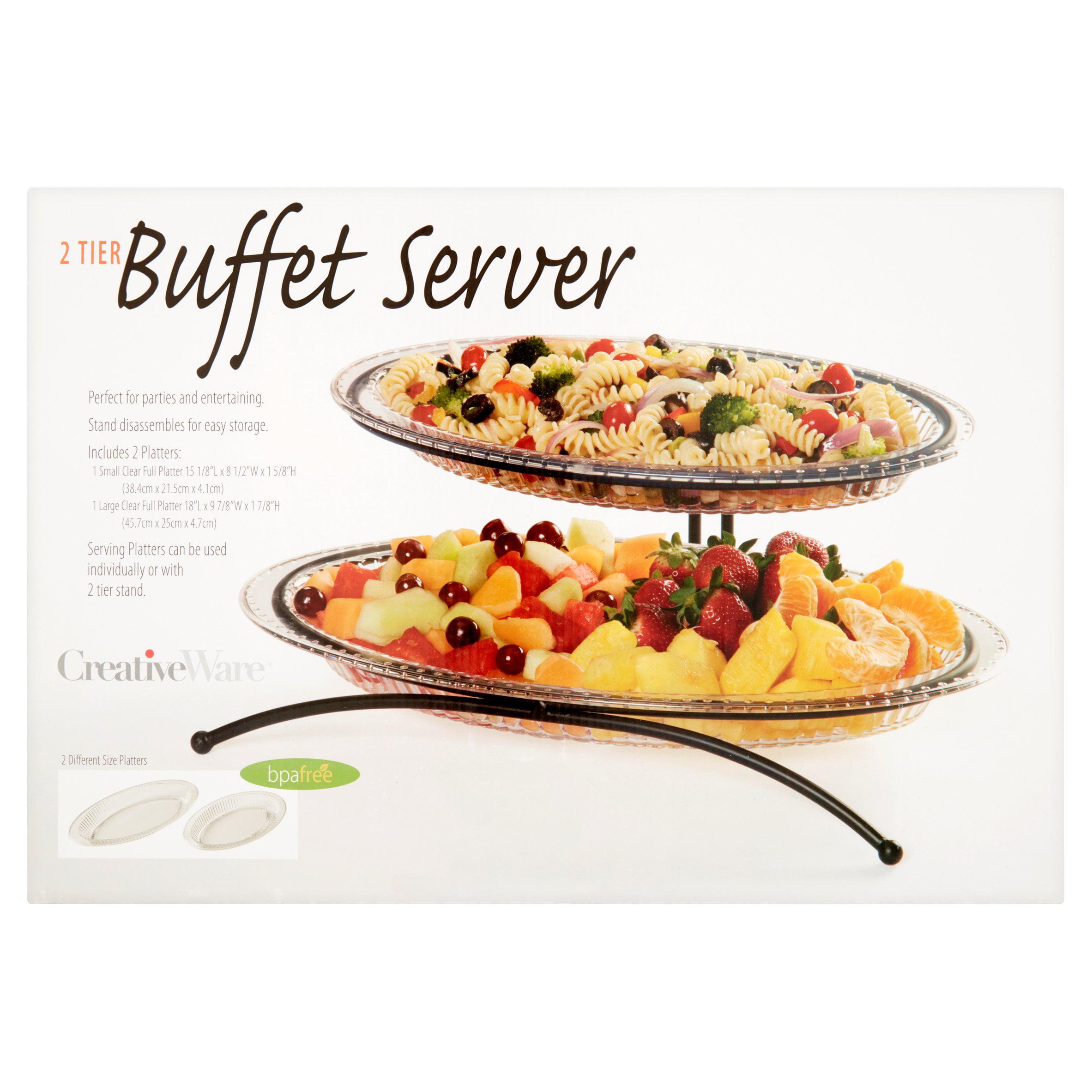 Creative Ware Tier Buffet Server, 2 count