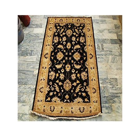 Black Chobi Zeigler Mahal Excellent Designed Vege Dyed Area Rugs Hand Knotted Carpet (5.1 x (Chobi Carpet)