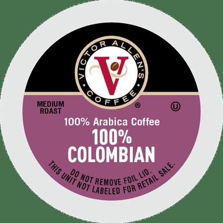 Victor Allens Coffee Medium Roast 100% Colombian Single Serve Brew Cups, 0.35 oz, 42 count