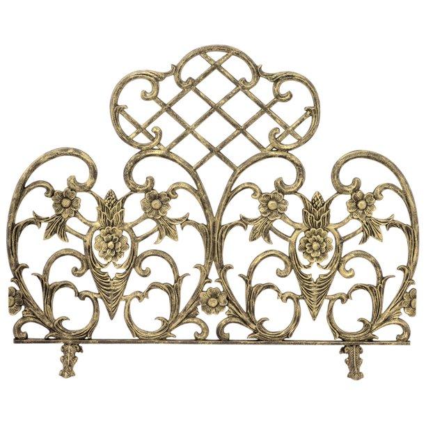 Uniflame Single Panel Antique Gold Cast