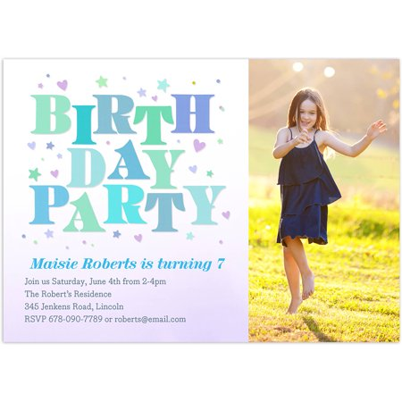 Bright Birthday Birthday Young Girl Invitation