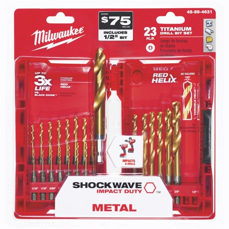 Milwaukee Titanium Drill Bit Set, 23 Piece