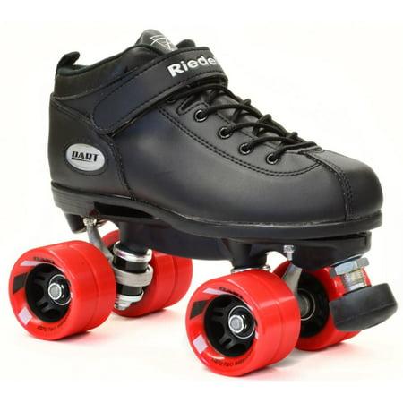 Riedell Dart Black Quad Speed Skates