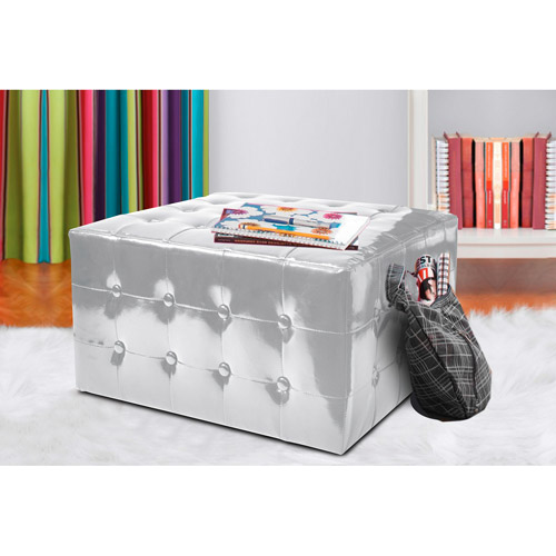 Urban Shop Metallic Large Ottoman, Multiple Colors
