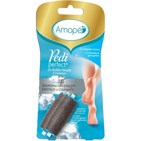 Amope Pedi Perfect Electronic Foot File Refills, 2 Count, Regular Coarse