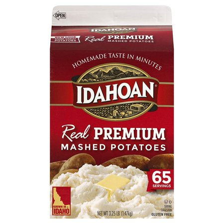Real Premium Mashed Potatoes, Made with Gluten-Free 100-Percent Real Idaho Potatoes, 3.25lb Carton (65 Servings), Made with 100-Percent Real Idaho potatoes By Idahoan