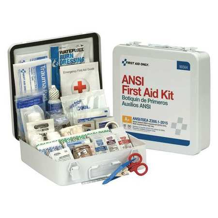 FIRST AID ONLY 90564 First Aid Kit,50 People,Metal,183 Comp. G4448346