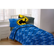 Batman Glowing Bat Symbol Twin Bedding Sheet Set