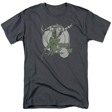 DC Comics Right On Target Mens Short Sleeve Shirt