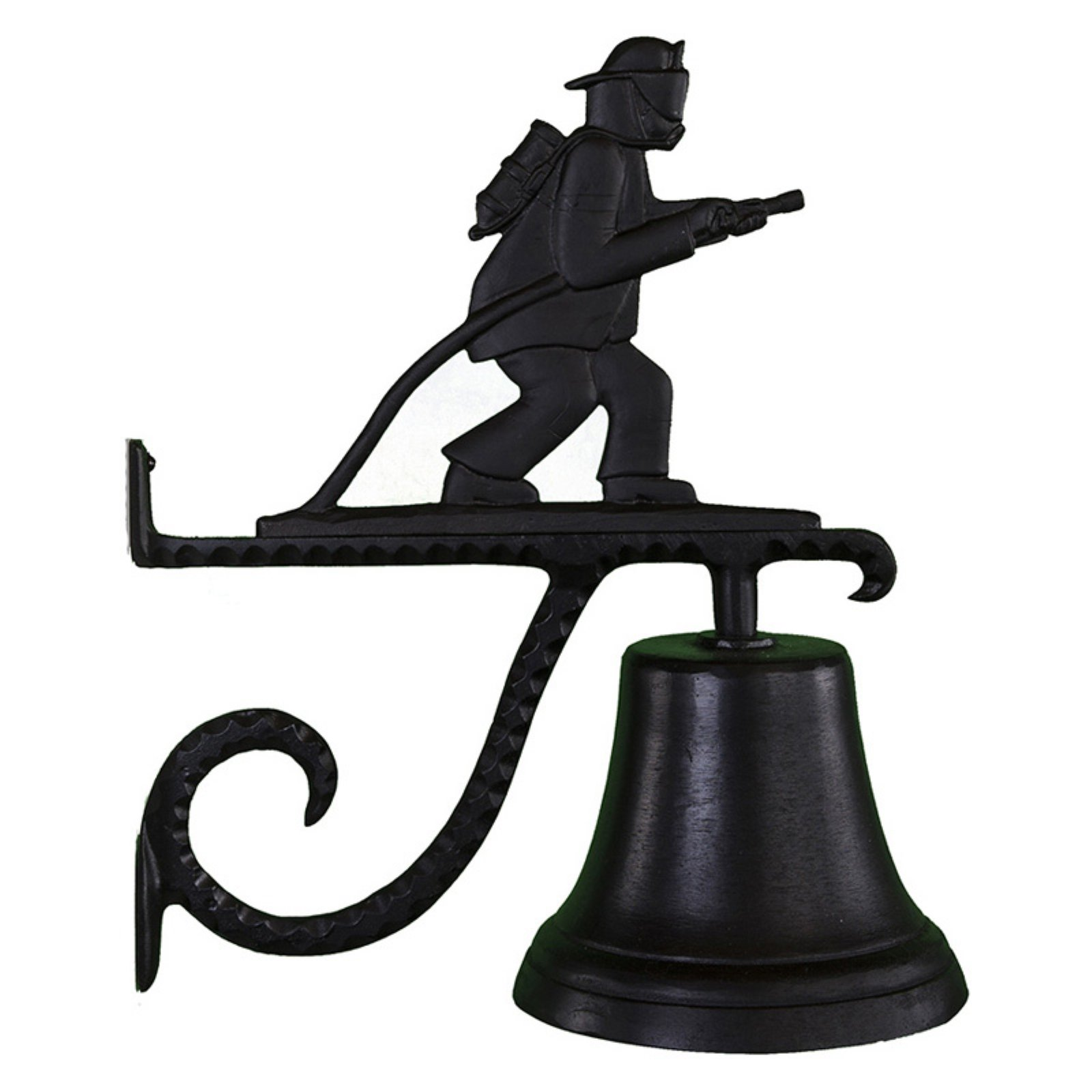 Cast Bell with Black Fireman Weathervane by Montague Metal Products