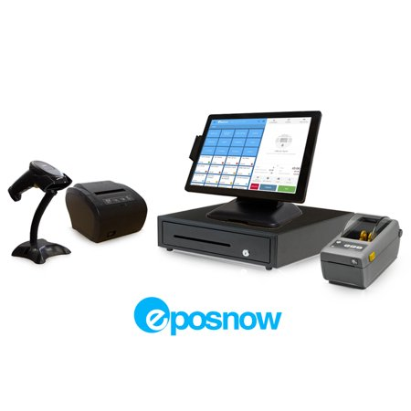 Retail Cloud Point of Sale System - includes Touchscreen PC, POS Software (Epos Now), Receipt Printer, Scanner, Cash Drawer, Credit Card Swipe Reader, and Label (Best Receipt Scanner 2019)