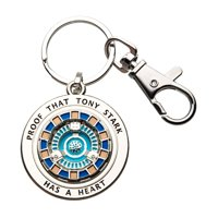 Marvel Iron Man Tony Has A Heart 3D Metal Key Chain