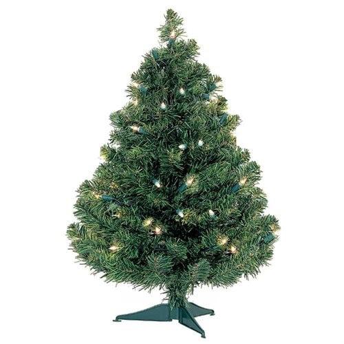 2' Douglas Fir Table Top Tree, Multicolor Lights