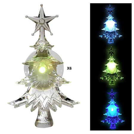 Christmas Window Clings - Set of 6 Suction Cup Xmas Trees ...