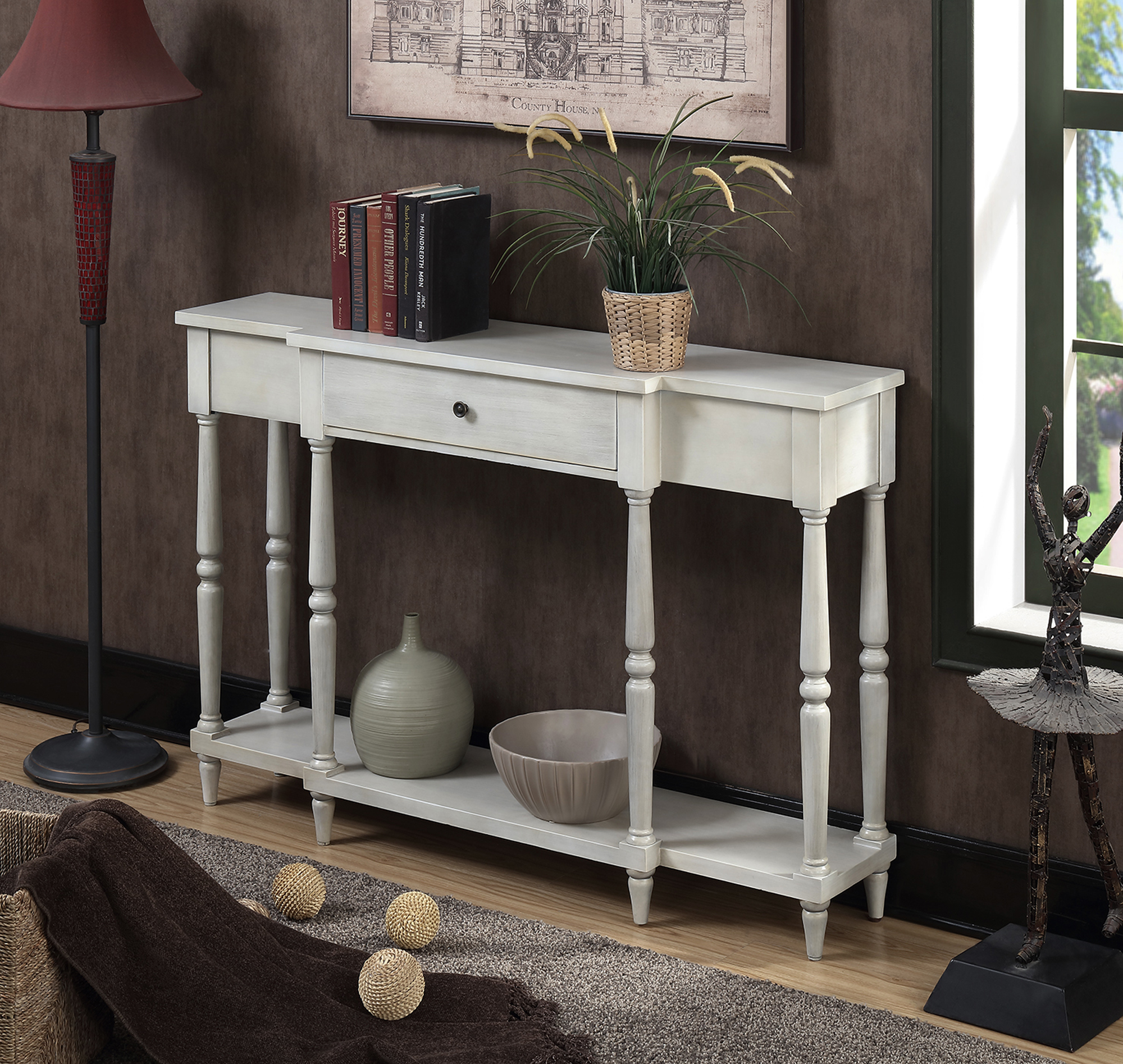 Convenience Concepts Wyoming Antique Console