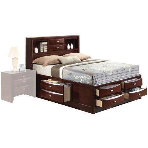 Acme Ireland King Bed with Storage, Espresso