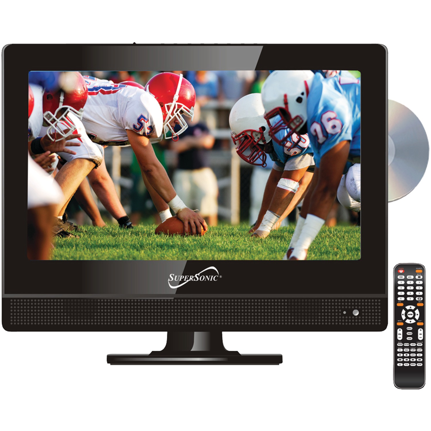 "Supersonic SC-1312 13.3"" 720p Widescreen LED HDTV/DVD Combination"
