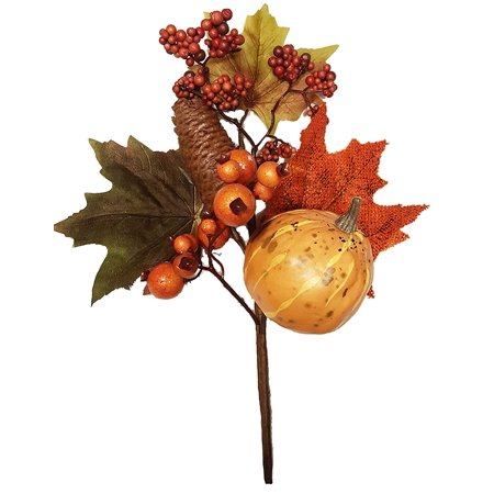 Fall Pumpkin Pinecone Berry Pick by, Pick measures 13H x 9W x 3.5D By Park Hill Collection